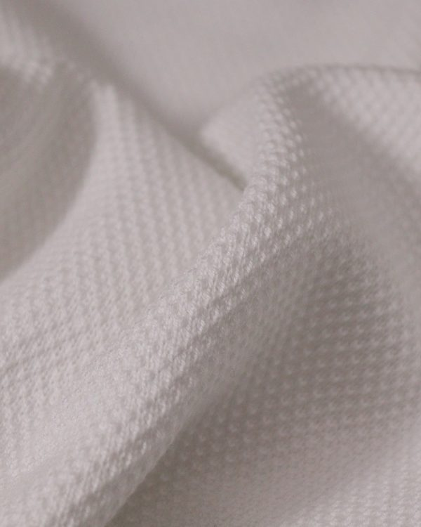 Essential micro textured white sweater