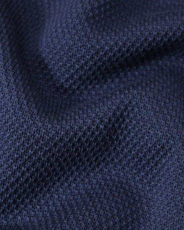 Essential micro textured indigo sweater