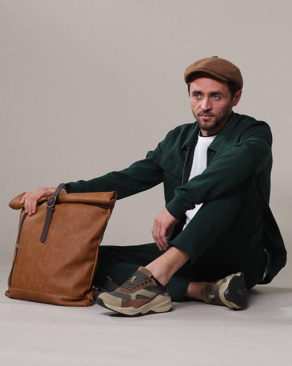 Green Track Suits for men , Havana Leather Backpack