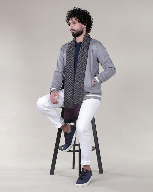 Grey bomber Jacket for men