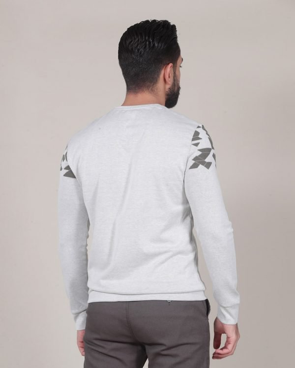 abstract pattern Beige grey sweater For men , Causal Wear For men, Casual Fashion for men