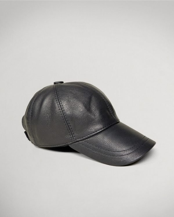 black Leather hat for men , Men's Fashion , Casual Man look