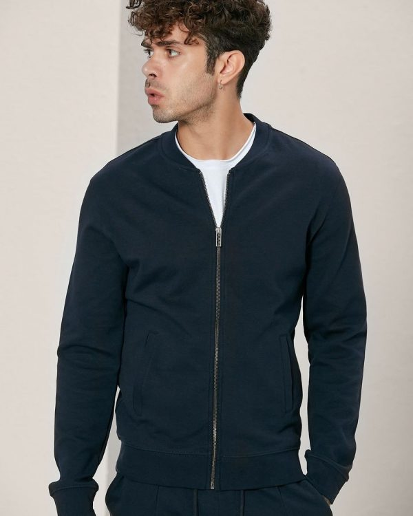 bomber style navy track jackets For men, Causal Wear for Men, Men's Fashion