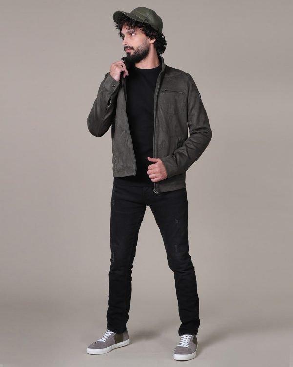 Plain black sweater for men , Olive jacket for men