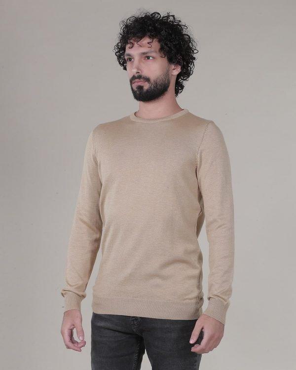 Beige plain sweater