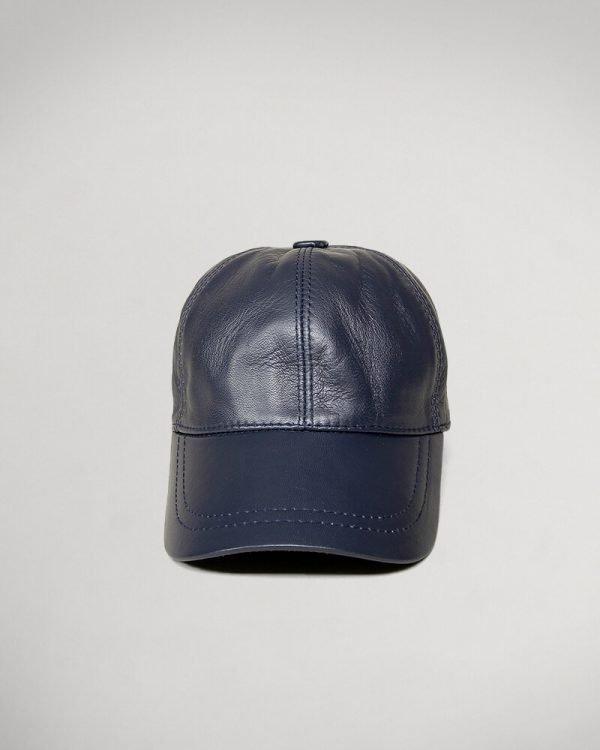 Navy Leather hat For men , البسة رجالية رائعة