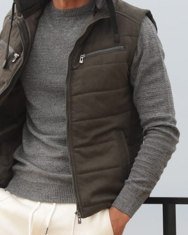 Vest with Hoodie for Men