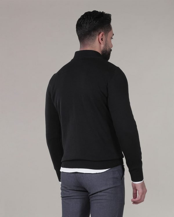 Half Zip Black Sweater For men , Causal wear for men , Fashion for men