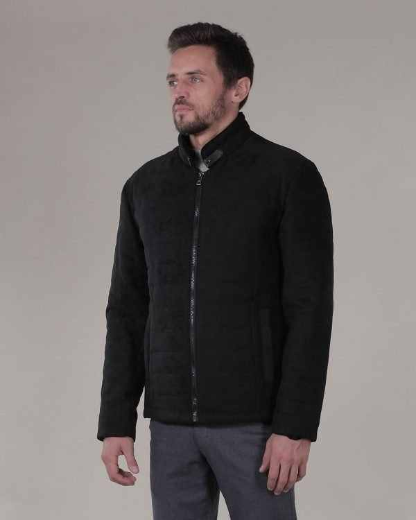 Suede Black Jacket For Men