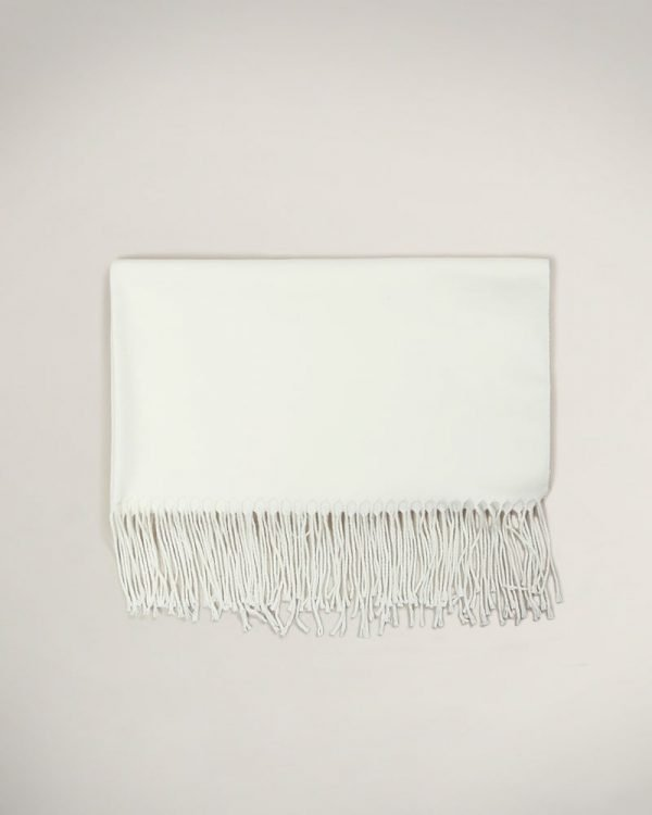 soft wool white scarf , Perfect Gift For Man