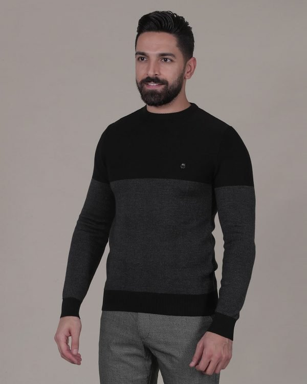 two toned soft Black sweater , Causal Wear For men, Casual Fashion for men